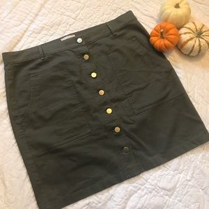 LOFT Outlet Green Jean Skirt
